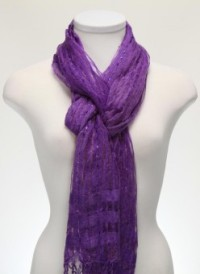 Purple Light Weight Scarf