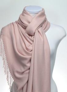 pale pink pashmina shawl