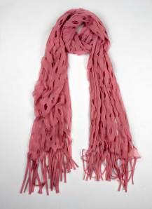 pink holes scarf shawl salmon